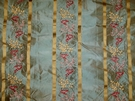 KRAVET COUTURE PICARDY EMBROIDERED SILK SATIN STRIPES FABRIC