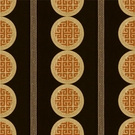 KRAVET COUTURE IMPERIAL COURT EMBROIDERED FABRIC AMBER