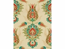 KRAVET COUTURE ISTANBUL UPHOLSTERY FABRIC ORANGE GREEN