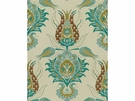 KRAVET COUTURE ISTANBUL UPHOLSTERY FABRIC BLUE GREEN WHITE