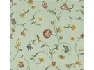 KRAVET COUTURE ITALIAN WOVEN FLORAL DAMASK FABRIC GREEN