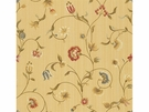KRAVET COUTURE ITALIAN WOVEN FLORAL DAMASK FABRIC YELLOW