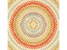 KRAVET COUTURE PAINTED MOSAIC JACQUARDS FABRIC CORAL