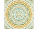 KRAVET COUTURE PAINTED MOSAIC JACQUARDS FABRIC TURQUOISE