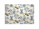 KRAVET COUTURE UNDERSEA COTTON FABRIC BEIGE BLUE