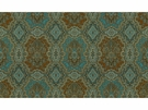 KRAVET ETHNIC MEDALLIONS FABRIC BLUE TEAL BROWN