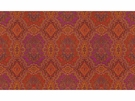 KRAVET ETHNIC MEDALLIONS FABRIC RED YELLOW PURPLE