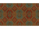 KRAVET ETHNIC MEDALLIONS FABRIC RED YELLOW TEAL