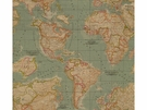 KRAVET MAPS OF THE GLOBE PRINTED FABRIC MULTI