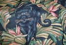 KRAVET LEE JOFA PANTHER TROPICAL TAPESTRY FABRIC 20 YARDS BLACK MULTI