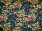 KRAVET LEE JOFA PANTHER TROPICAL TAPESTRY FABRIC 30 YARDS BLACK MULTI