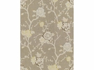 KRAVET NIGHT VINE LINEN FABRIC SILVER