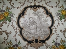 KRAVET PIERRE DEUX FRENCH COUNTY MEDALLIONS TOILE FABRIC