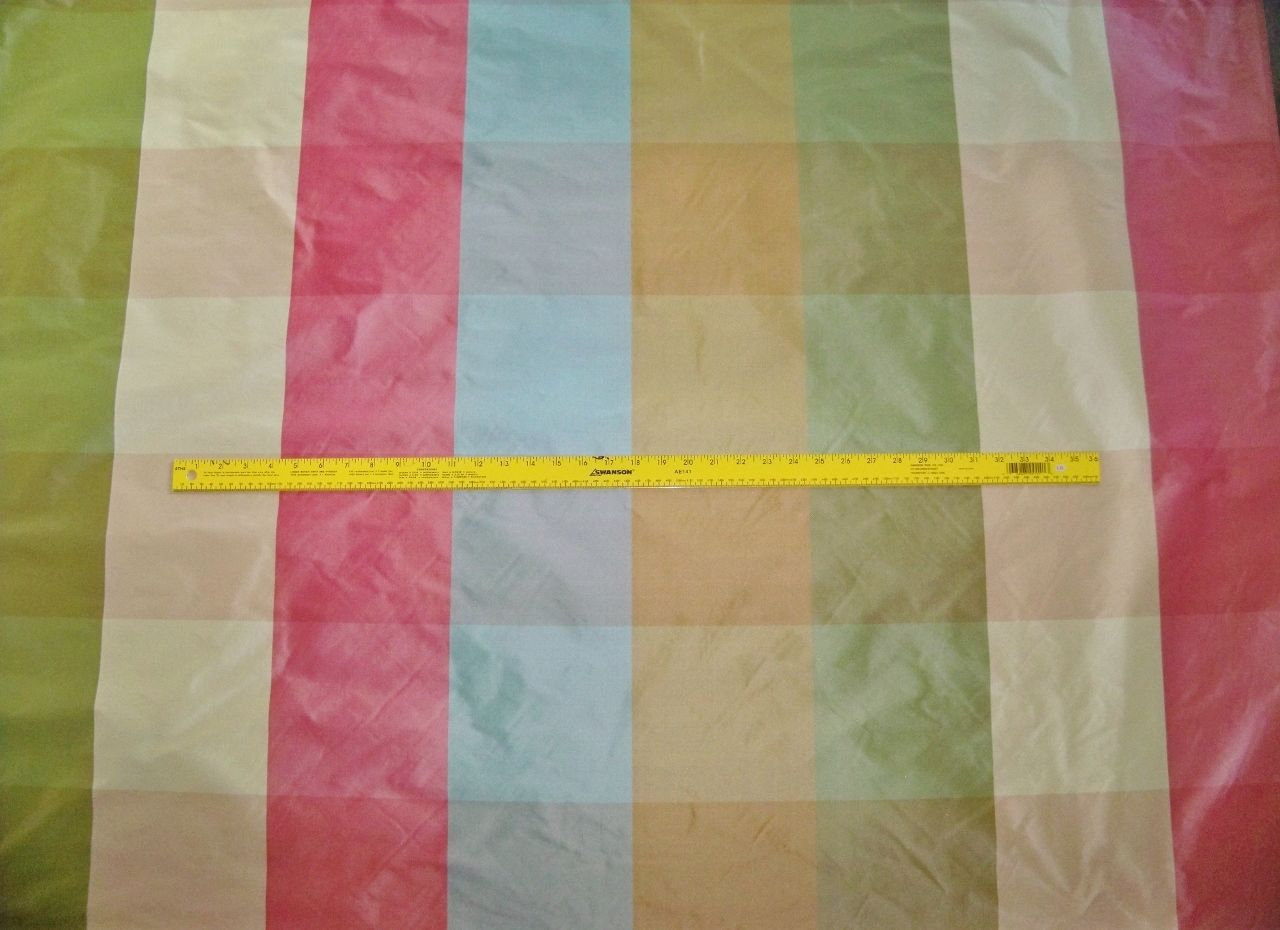 Pasari Katerina Silk Check Taffeta Fabric 30 Yard Bolt