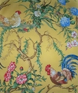 SCALAMANDRE CHANTICLEER ROOSTER FABRIC MULTI