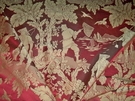 SCALAMANDRE YANG TZE SILK DAMASK FABRIC CRANBERRY 10 YARDS