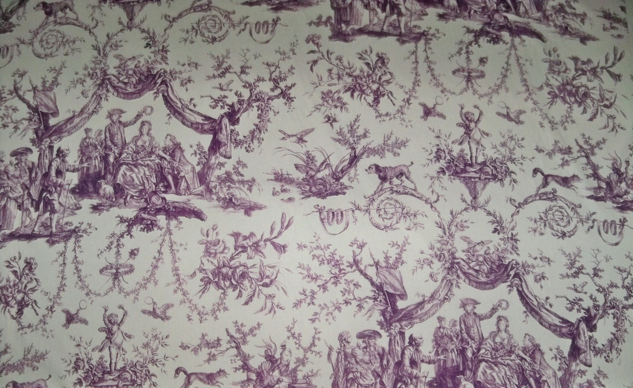 French Toile Fabric Home Decor