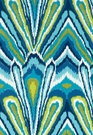 SCHUMACHER TRINA TURK PEACOCK PRINT INDOOR/OUTDOOR FABRIC POOL