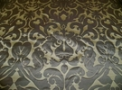 SILK LOOM INC MARSEILLE SILK DAMASK FABRIC PEWTER ON SMOKE GRAY