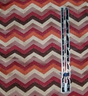 SILK LOOM SOHO CHEVRON ZIG ZAG DAMASK FABRIC RUSSET BURGUNDY