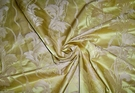 STROHEIM NEOCLASSICAL EMPIRE ACANTHUS TASSELS STRIE SILK DAMASK FABRIC CITRINE GOLD 10 YARDS