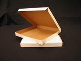 """1001 - 14"""" x 14"""" x 1 1/2"""" White/Brown without Window, Lock & Tab Box With Lid"""