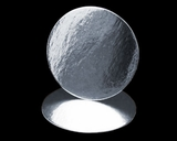 101 - 4 inch Cake Round, Silver Foil Laminated, Smooth Edges