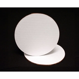 118 - 6 inch White Cake Round, Coated Corrugated Single Wall Cake Board