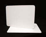 124 - Half Sheet Cake Board, Coated White Single Wall Corrugated. H09