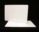 125 - Full Sheet Cake Board, Coated White Single Wall Corrugated. H16