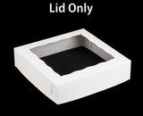 "1251 - 12"" x 12"" x 3"" White/White  Lock & Tab Lid Only, 50 COUNT. A08"