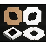 "1497 - 4"" x 4""  Single Standard Cupcake Insert, Reversible White/Brown"
