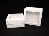 "1718x1251 - 12"" x 12"" x 6"" White/White Lock & Tab Box Set, with Window, 50 COUNT. A16xA08"