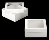 "1719x1720 - 14"" x 14"" x 6"" White/White Lock & Tab Box Set, with Window 50 COUNT. A20xA08"