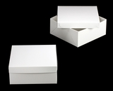 "1719x3480 - 14"" x 14"" x 6"" White/White Lock & Tab Box Set, without Window 50 COUNT. A20xA11"