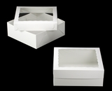 "1797x1796 - 16"" x 16"" x 6"" White/White Lock & Tab Box Set with Window, 50 COUNT"