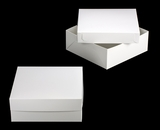 "1797x3482 - 16"" x 16"" x 6"" White/White Lock & Tab Box Set without Window, 50 COUNT"