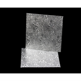 200 - 7 inch Cake Board, Square Silver Foil Single Wall Corrugated
