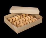 """2104x2379 - 19"""" x 14"""" x 4"""" Brown/Brown Lock & Tab Donut Box Set without Window, 50 COUNT"""