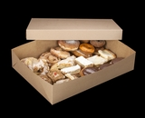 "2104x2379 - 19"" x 14"" x 4"" Brown/Brown Lock & Tab Pastry Box Set without Window, 50 COUNT"