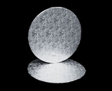 213 - 12 inch Cake Round, Silver Foil Single Wall Corrugated