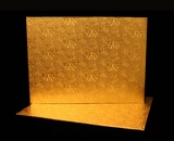 221 - Half Sheet Cake Board, Gold Foil Covered Double Wall Corrugated. H20