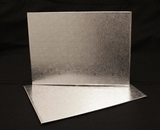 224 - Half Sheet Cake Board, Silver Foil Covered Double Wall Corrugated. H20