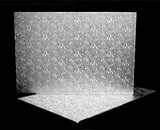 225 - Full Sheet Cake Board, Silver Foil Covered Double Wall Corrugated. H33