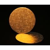 226 - 9 inch Cake Round, Gold Single Wall Corrugated