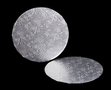 227 - 9 inch Cake Round, Silver Single Wall Corrugated. C04