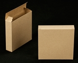 "2270 - 4 3/8"" x 4 3/8"" x 1"" Brown/Brown Without Window Reverse Tuck Box. B03"