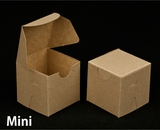 """2287 - 2 1/2"""" x 2 1/2"""" x 2 1/2"""" Brown/Brown without Window, Lock & Tab Box With Lid"""