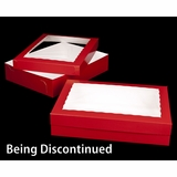 "2292x2289 - 19"" x 14"" x 4"" Red/White Two Piece Lock & Tab Box Set, with Window"