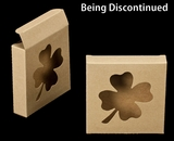 "2297 - 4 3/8"" x 4 3/8"" x 1"" Brown/Brown with Shamrock Window Reverse Tuck Box. B03"